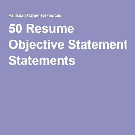 Free resume objectives sample